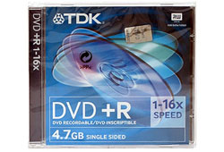 TDK DVD+R 16x 4,7GB DVD lemez