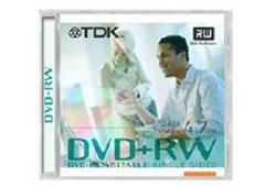 TDK DVD+RW 4,7GB DVD lemez