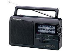 Panasonic RF-3500E9-K hordozható táskarádió, fekete