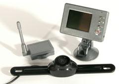 """RVC 3000 vezetéknélküli tolatókamera 2,4""""-os monitorral"""
