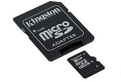 Kingston Secure Digital Micro 16GB Cl4 memóriakártya (SDC4/16GB) + SD adapter