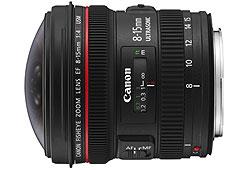 Canon 8-15/F4.0 USM EF-L Fisheye objektív