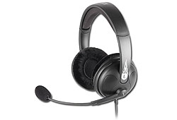 Sharkoon Rush  (3,5mm jack; nagy-párnás) mikrofonos fejhallgató