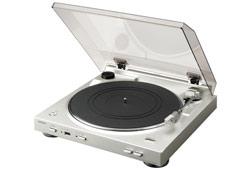 Denon DP-200USB automata analóg lemezjátszó MP3 kódolással, ezüst